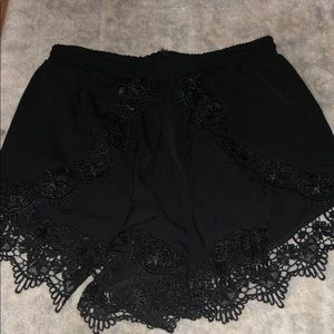 Black Lacey shorts